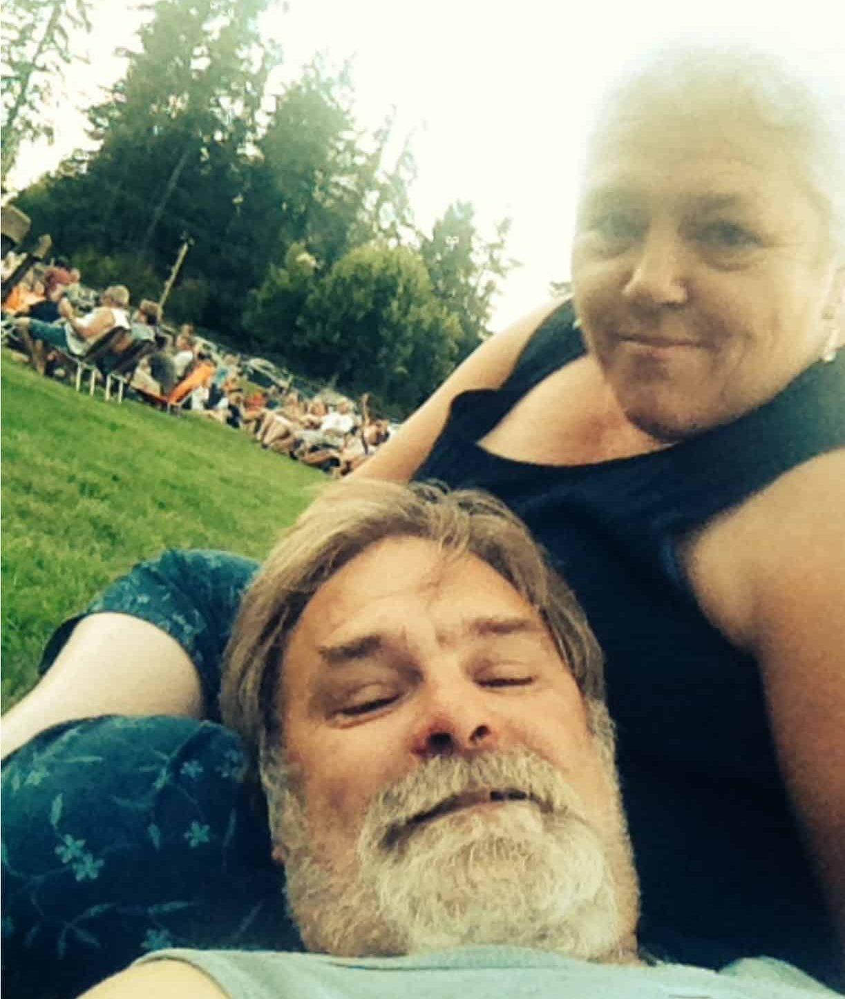 Gwen & David at music festival